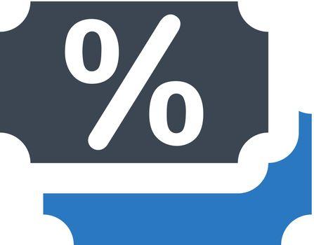 Discount coupon icon