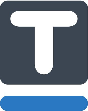 Text underline icon. Vector EPS file.