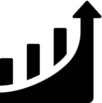 Growth up report icon