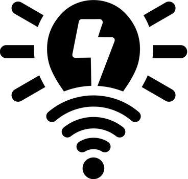 Smart light bulb icon