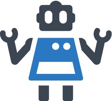 Home robot icon