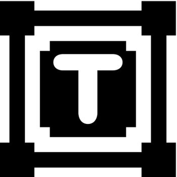 Text type tool icon. Vector EPS file.
