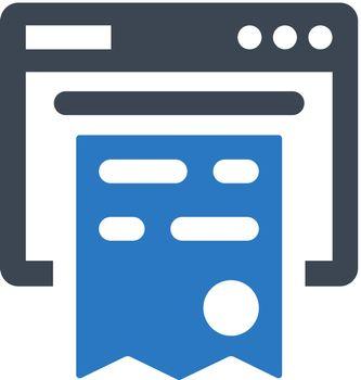 Online invoice icon