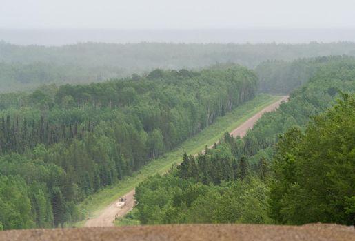 Northern Saskatchewan Logging Road