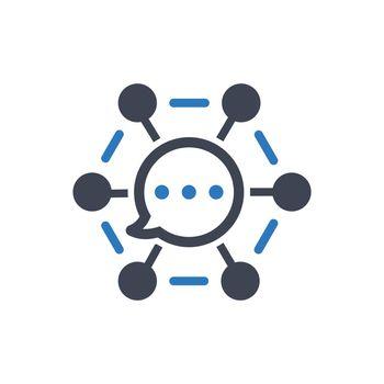 Communication network icon