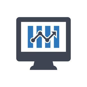 Online profit report icon