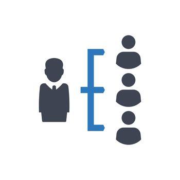 Business leadership icon