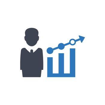 Business profit report icon