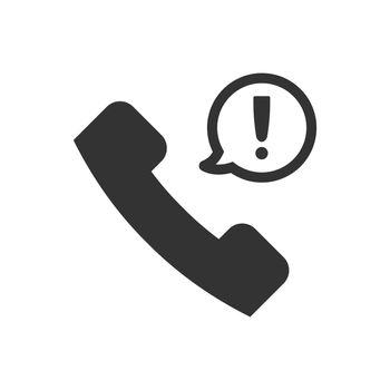 Telephone warning icon