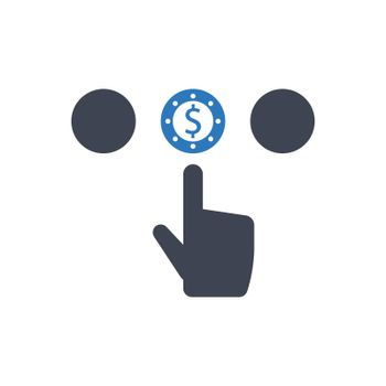 Paid to click icon