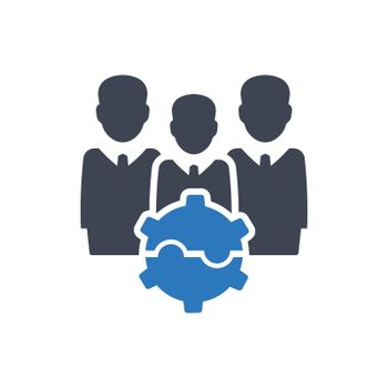 Teamwork problem solving icon