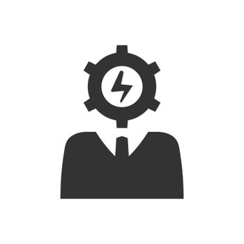 Efficient business person icon