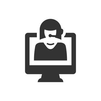 Online customer care icon