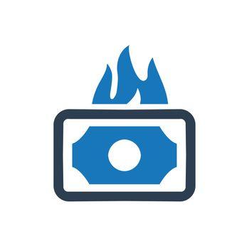 Money Burning Icon