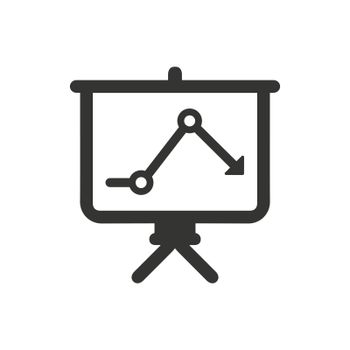 Downward Analysis Icon