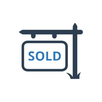 Property Sold Sign Board Icon