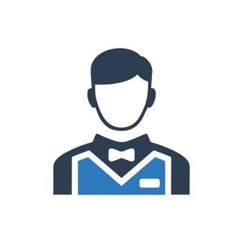 Waiter Boy Icon