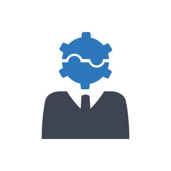 Business problem solving icon