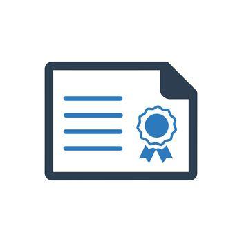 Achievement, Certificate Icon