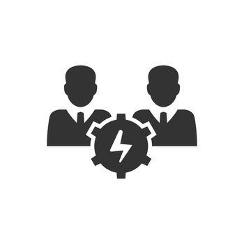 Creative teamwork icon