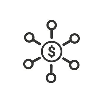Bank Network Icon