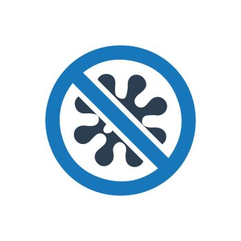 No Germs Warning Icon