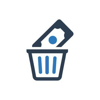 Money Waste Icon