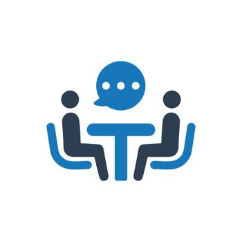 Businessman Discussion Icon