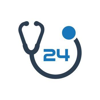 24 Hour Health Care Icon