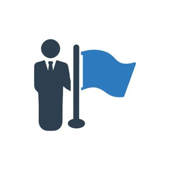 Businessman Flag Icon