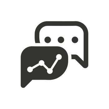 Business Graphical Discussion Icon