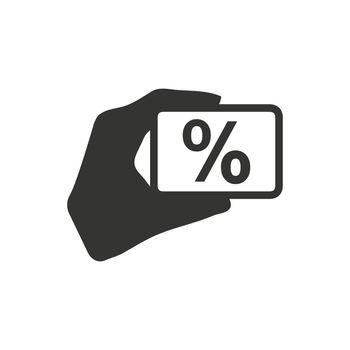 Percentage on Hand Icon