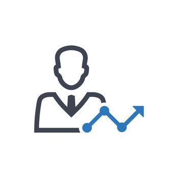 Employee performance report icon