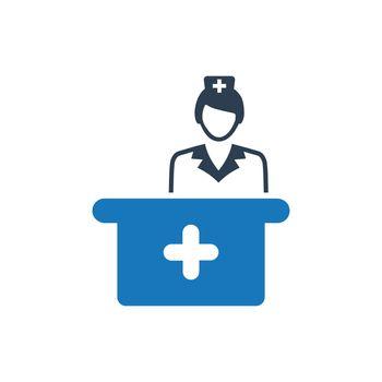 Medical Receptionist Icon