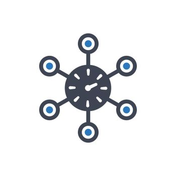 Time network icon