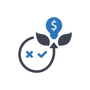 Creative money investment icon