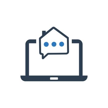 Online Real Estate Support Icon