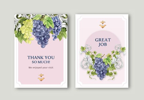 Card template with Italian style concept,watercolor style