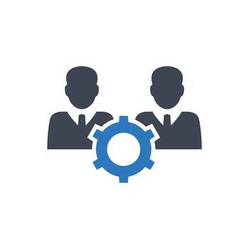 Teamwork management icon