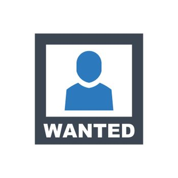Criminal wanted icon