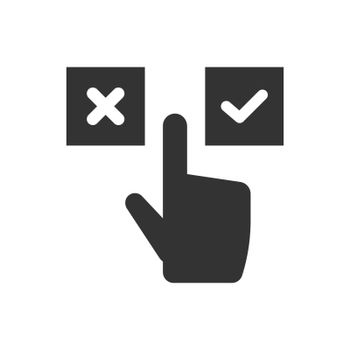 Yes or no decision making icon
