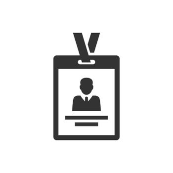 Employee identity card icon