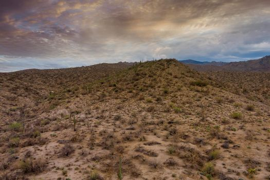 Beautiful panorama all natural desert mountains of New Mexico