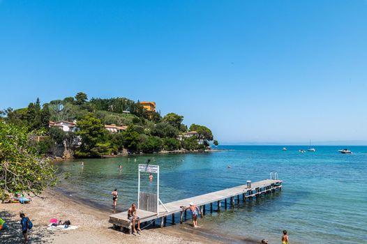 beach landscape in Porto Santo Stefano