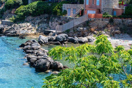 view of a cove in Porto Santo Stefano