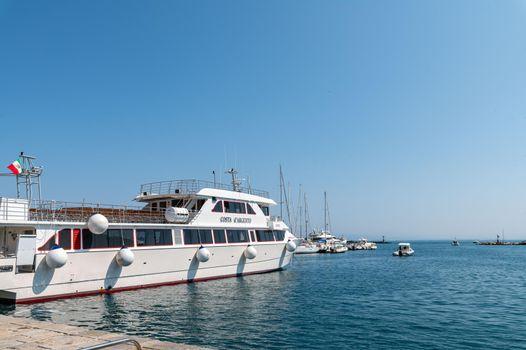 yachts on the port of porto santo stefano