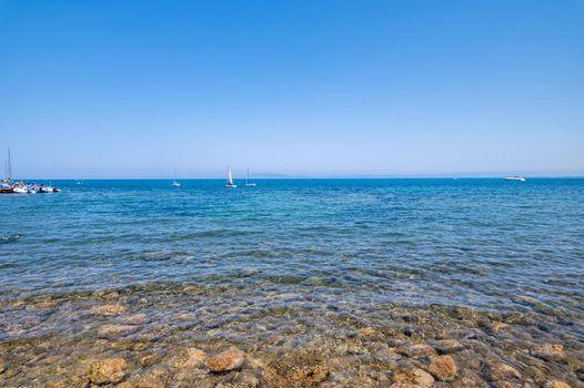 view of the sea in Porto Santo Stefano