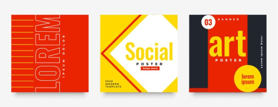 social media feed post banner in warm colors