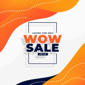 wow sale moden banner for social media promotion