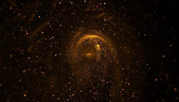 dust powder of golden glitter